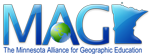 Minnesota Alliance for Geographic Education (MAGE) Logo